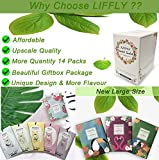 LIFFLY 14 Packs Vanilla Scented Sachets fit Drawers and Closets