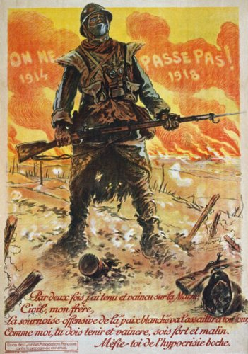 WA81 Vintage WWI French Propaganda They Shall Not Pass War Poster WW1 Re-Print - A1 (841 x 610mm) 33