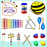 FRUITEAM Musical Instrument Set, Best Kids Toys, Creativity Toy for Baby, Most Popular Toddler's Toys, Kids Mini Band, Rhythm Xylophone Set for Percussion Toy
