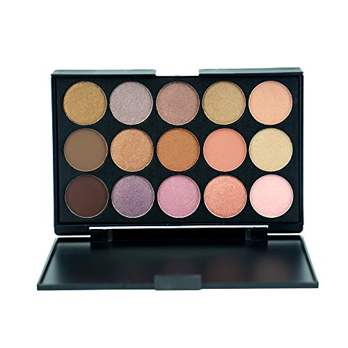 Everfavor 15 Color Venus Metallic Eyeshadow Palette, High Pi