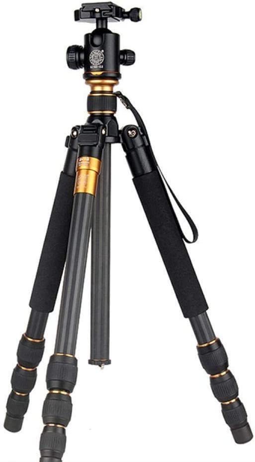 QZSD Q476 Carbon Portable Traveling Tripod with Ball Head f//Camera
