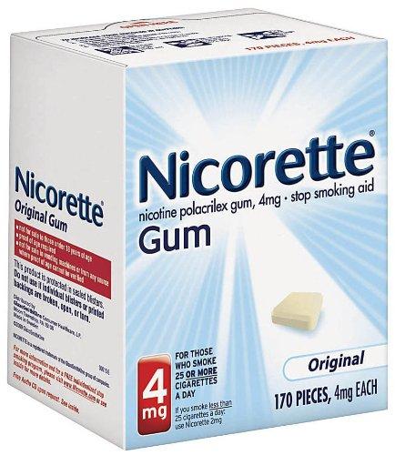 La gomme Nicorette, Original, 4