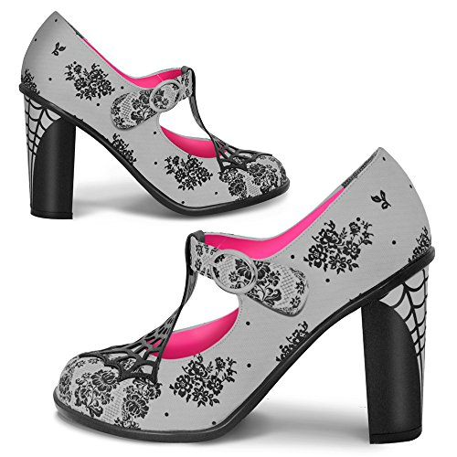 Hot Heels Shoes (Hot Chocolate Design Chocolaticas High Heels Spider Web Women's Mary Jane Pump Multicoloured HCD 39)