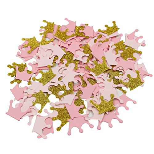 Mybbshower Paper Crown Confetti for Princess Birthday Party