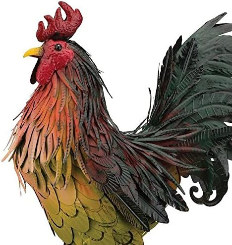 Wonders shop usa Outdoor/Indoor Accent Metal Napa Rooster Figurine Statues 21 inch