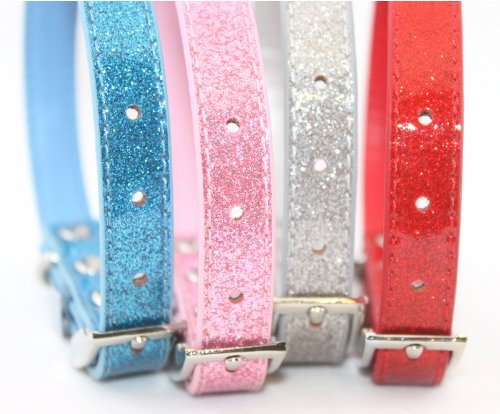 "HOW'S YOUR DOG ""BeDazzle"" Glittering Diamante Finish Collar for Dogs and Cats - Pink BeDazzle"