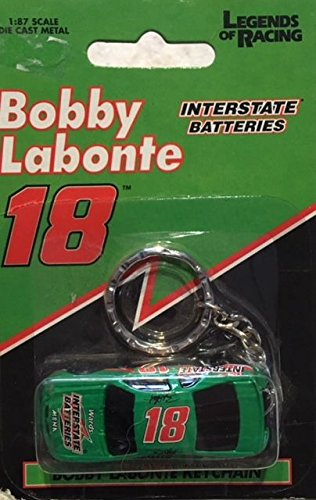 Bobby Labonte - Interstate Batteries - Die Cast Metal Keychain - 1:87 Scale - (Bobby Racing Labonte)