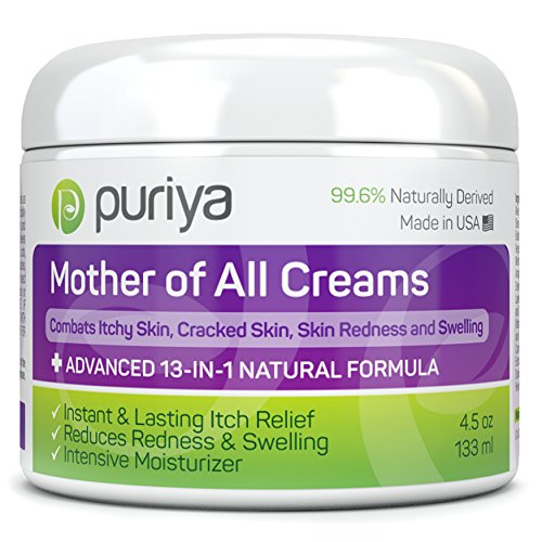 Puriya Cream For Eczema, Psoriasis, Dermatitis and Rashes. Powerful Plant Rich Formula Provides Instant and Lasting Relief For Severely Dry, Itchy, or Irritated Skin (4.5 oz) by Puriya