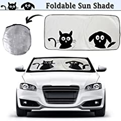 2win2buy Cat and Dog Car Windshield Sun Shade! - Stop burning yourself when you enter your vehicle  - Protect your kids and pets from entering a blazing hot car  - Keep your vehicle up to 44 degrees F cooler  - Block 99% of the UV rays that d...