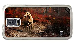 Hipster waterproof Samsung Galaxy S5 Cases Running Horse PC Transparent for Samsung S5