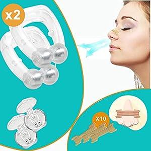 Clip Nasal Anti Ronflement avec Ecarteur Nasal   Dispositif Efficace pour un Sommeil sans Apnées ni Ronflements   Pince…