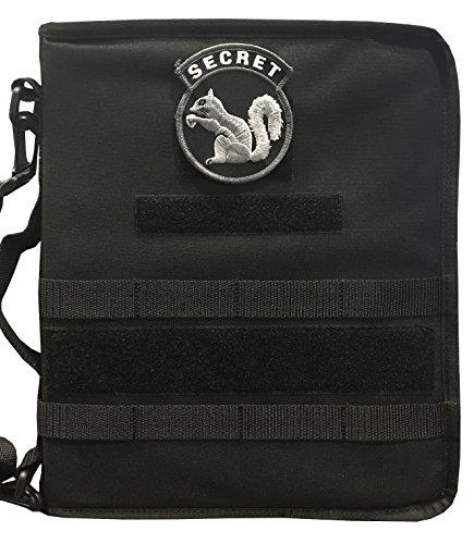 Black Secret Squirrel Tactical Military Padfolio