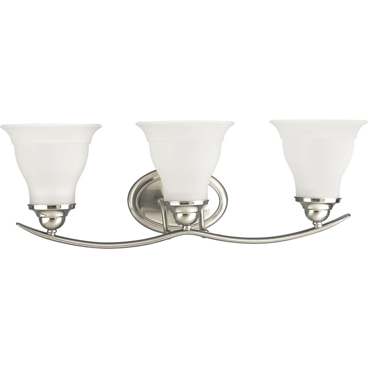 Progress Lighting P3192-09 3-Light Bath Bracket, Brushed Nickel by Progress Lighting