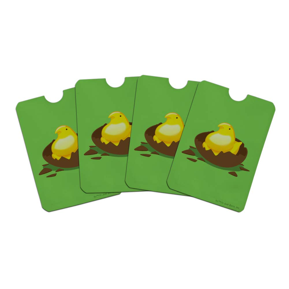 Peeps Hatching Out Of Chocolate Easter Egg Credit Card RFID Blocker Holder Protector Wallet Purse Sleeves Set of 4