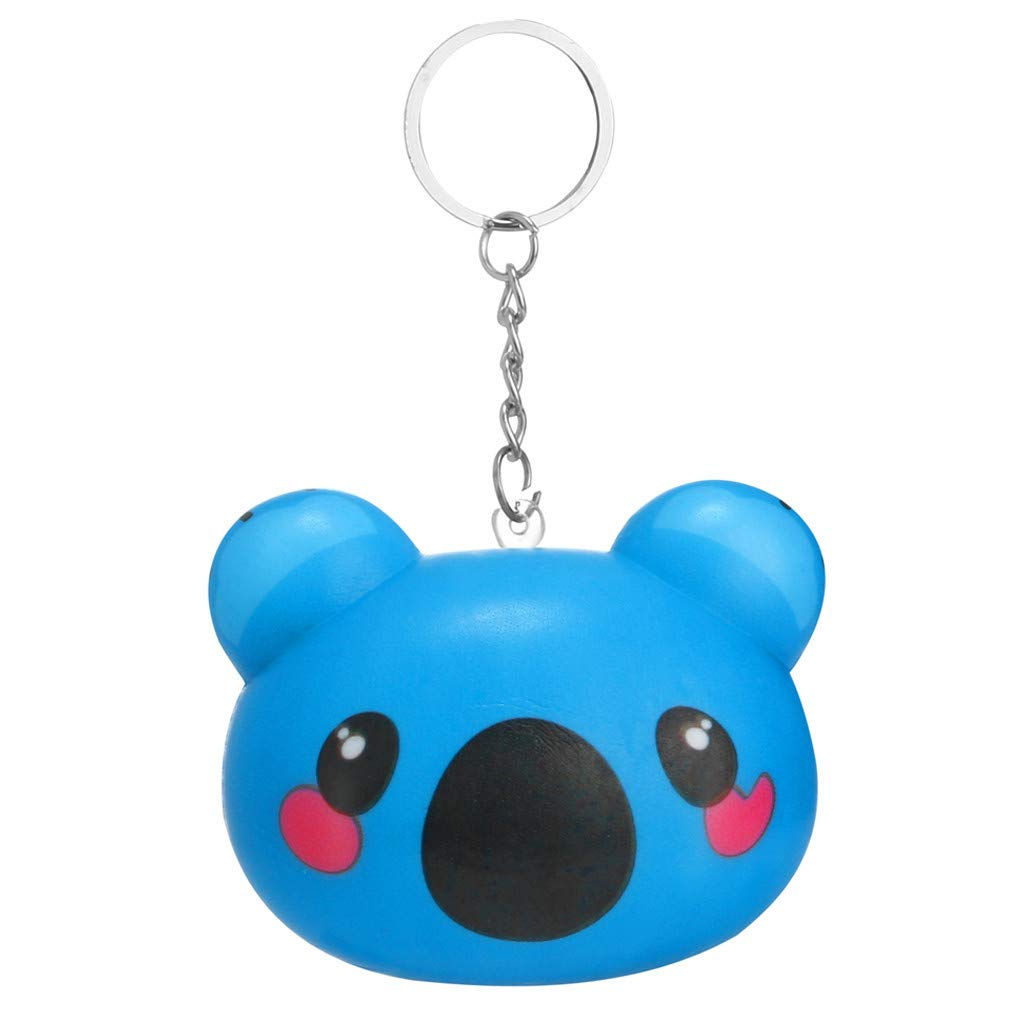 DDLmax Decompression Toy, Squishies Kawaii Cartoon Animal Slow Rising Cream Scented Keychain Stress Relief Toy