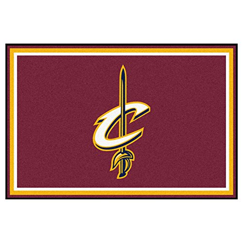 FANMATS NBA Cleveland Cavaliers Nylon Face 5X8 Plush Rug by Fanmats