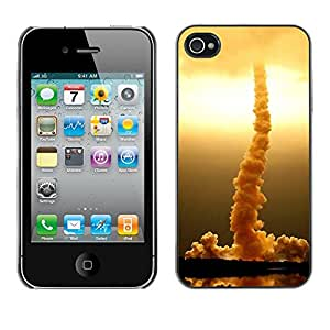 Paccase / SLIM PC / Aliminium Casa Carcasa Funda Case Cover - Rocket rises - Apple Iphone 4 / 4S
