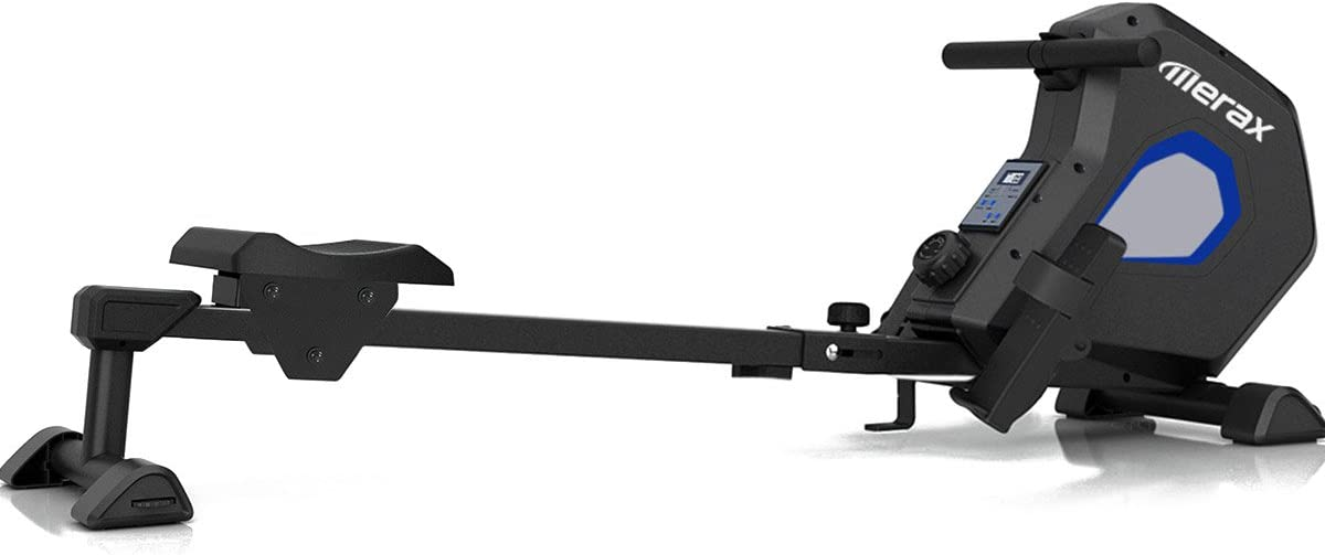 Merax Magnetic Exercise Rower Adjustable Resistance Rowing Machine BK