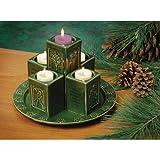 Ceramic Pillar Advent Wreath - Christmas Candle
