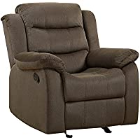 Coaster Home Furnishings 601883 Two-Tone Rodman Motion Collection Glider Recliner, Chocolate