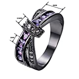 Bamos-Jewelry-Amethyst-Purple-Diamonds-New-Years-Best-Friend-Engagement-Gift-X-Shape-Cross-Black-Gold-Womens-Ring-Size-5-10