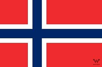 Whatabus Norwegen Flagge Aufkleber Länderflagge Als Sticker 8 5 X 5 5 Cm Auto
