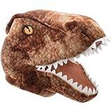 zoomer purple robot dog - HALLOWEEN T-Rex Maskimal: Adorable Brown T-Rex Large Plush Head Mask