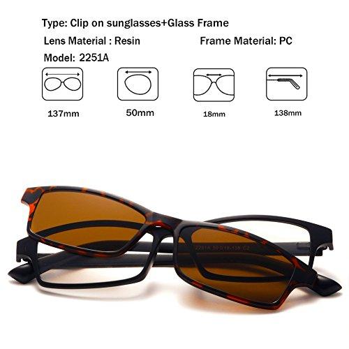 UV400 plástico de Mujeres Gafas Unisex magnético sol Night TR90 protección gafas 2251a 5Pcs de TIMWILL sol Clip Marco Lentes Polarizado Driving on de Hombres npUwvfqZ