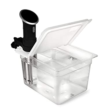 EVERIE Sous Vide Container 12 Quart EVC-12 with Collapsible Hinge Lid for Anova Cookers (Corner Mount) (Does Not Fit Nano)