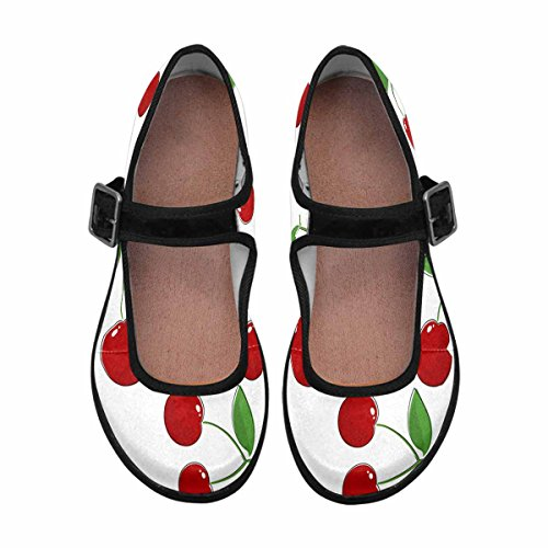 Casual Comfort Multi Walking Shoes InterestPrint Jane Flats Womens 2 Mary pAxqwHX