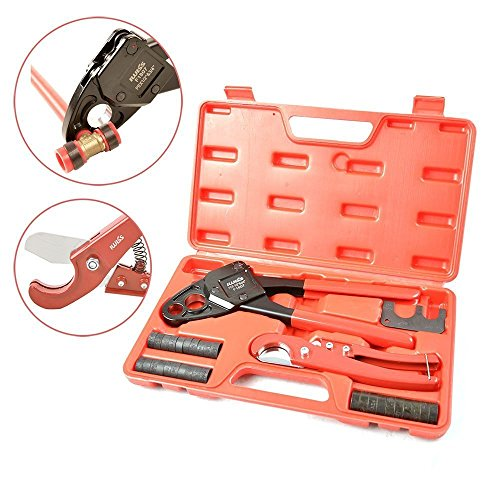 IWISS Combo Angle Head PEX Pipe Crimping Tool Kits for 1/2