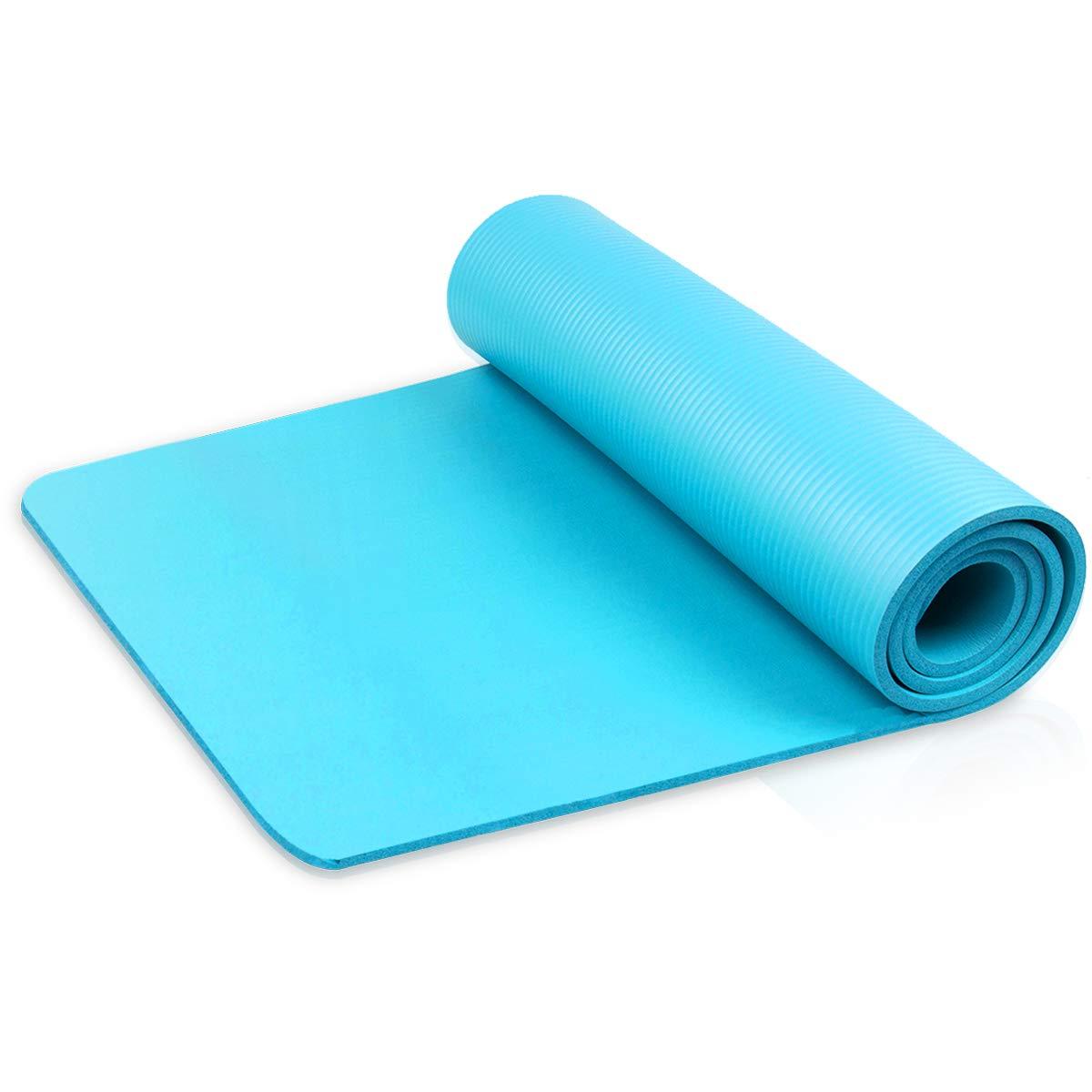 diMio - Esterilla para Yoga/Gimnasia, 185 x 60 cm, en 2 grosores y 6 Colores, sin ftalatos + con certificación SGS
