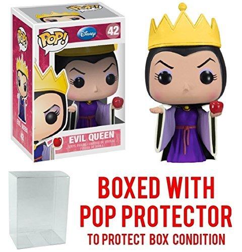 Funko Pop! Disney Series 4: Snow White - Wicked Evil Queen Grimhilde Vinyl Figure (Bundled with Pop BOX PROTECTOR CASE) ()
