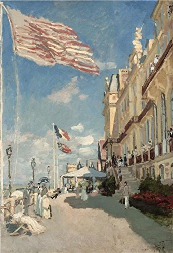 The High Quality Polyster Canvas Of Oil Painting 'Hotel Des Roches Noires, Trouville, 1870 By Claude Monet' ,size: 16x23 Inch / 41x59 Cm ,this High Definition Art Decorative Canvas Prints Is Fit For Hallway Gallery Art And Home Decoration And Gifts