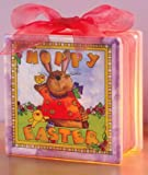 Lighted Glass Block - Hoppy Easter