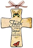 Manual Woodworkers & Weavers Divine Inspirations Ceramic Cross, 5.5-Inch, Faith, Set of 6