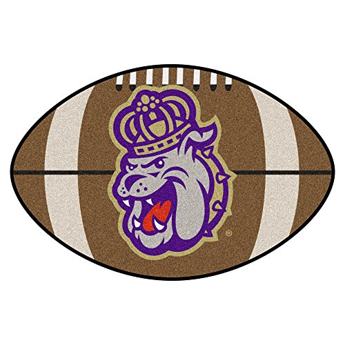 (NCAA James Madison University Dukes Football Shaped Mat Area Rug)