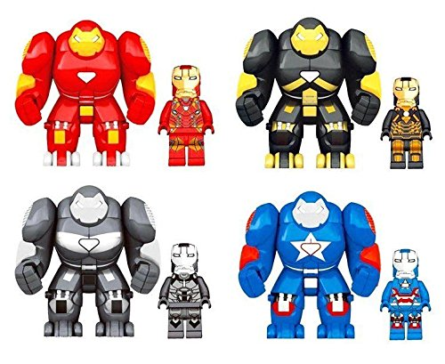 Shalleen 4 Sets Lot Iron Armor HulkBuster Figures 3