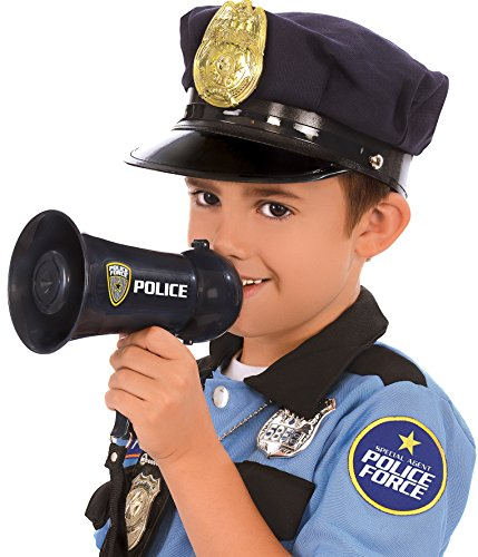Kangaroo's Police Officer Megaphone with Siren Sound for Children (Police Dress Up Costume)