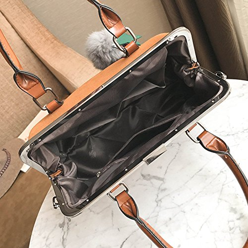 à Womens Sac BAILIANG Black Bandoulière Sac Main à Sac Simple Mode Mat Pinces Bandoulière 8HSSxadqw