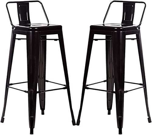Metal Bar Stools Set of 2 Industrial Counter Height Barstools Bistro Trattoria Metal Chair