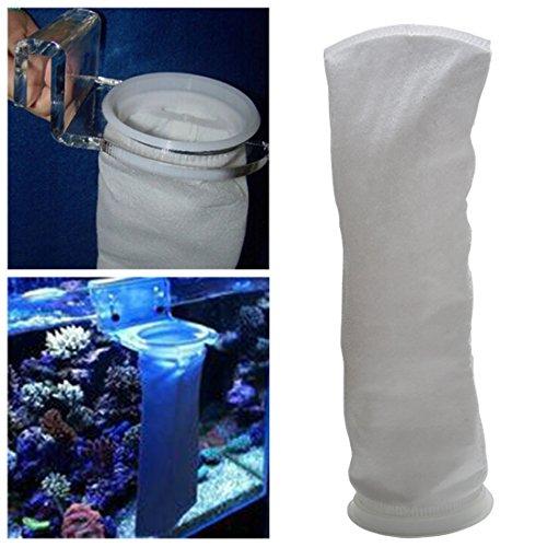 Efanr Filter Socks Fish Aquarium Marine Sump Felt Filter Mesh Bags 4 Inch Ring 15 Inch Long (100 Micron)
