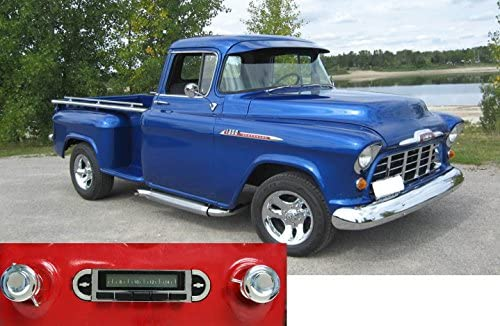 Custom Autosound Stereo compatible with 1955-1959 Chevrolet Truck, USA-630 II High Power 300 watt AM FM Car Stereo Radio with auxiliary input