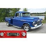 Custom Autosound 1955-1959 Chevrolet Pickup Truck USA-630 II High Power 300 watt AM FM Car Stereo/Radio with AUX Input, USB Input. No modifications to original dash required.