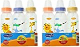 #6: Evenflo Zoo Friends 3 Count Standard Nipple Bottle, 8 Ounce (Colors may vary) (3 Count Pack of 2)