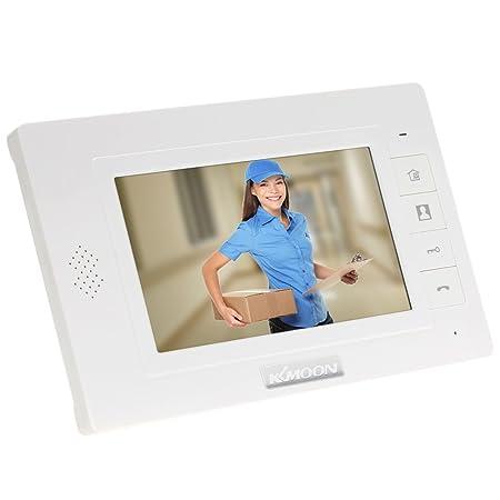 Kkmoon 7 Inch Wired Video Door Entry System Doorbell Intercom Kit