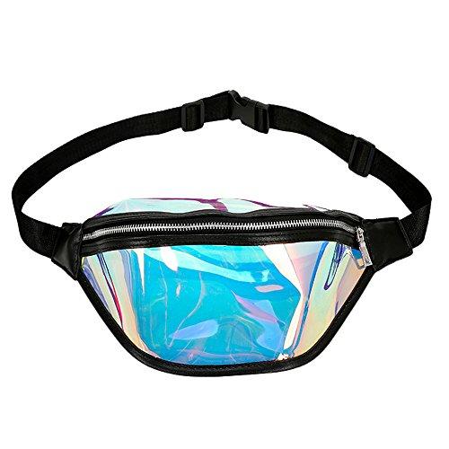 LiLiMeng Fashion Beach Bag Women Messenger Cute Laser Crossbody Bag Chest Bag