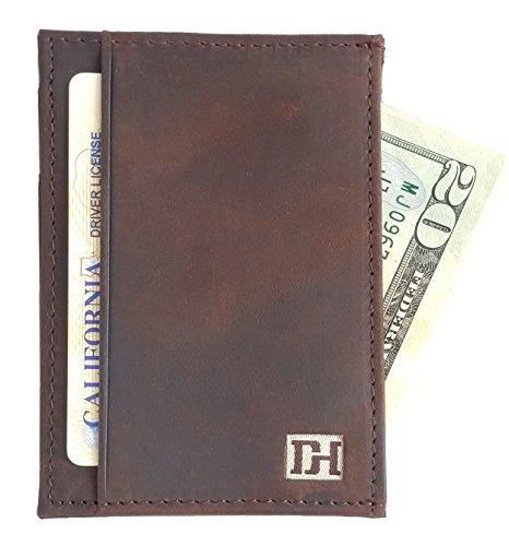 Mens Wallets - Credit Card Holder Front Pocket Wallets for Men - Thin Slim Leather Wallets for Men