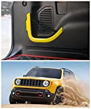 FMtoppeak Yellow ABS Accessories Decoration Rear Trunk Storage Bag Net Frame Trim Cover For 2014 UP Jeep Renegade