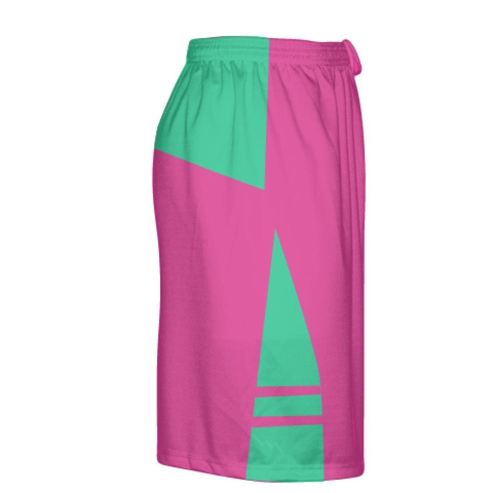 Boys Mens Lacrosse Shorts Youth Pink Youth Hot Pink Teal Green Athletic Shorts